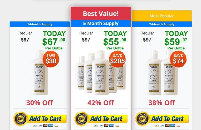 Buy MindBody Matrix Pain Relief Cream Button