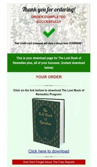 The Lost Book of Remedies Member Area