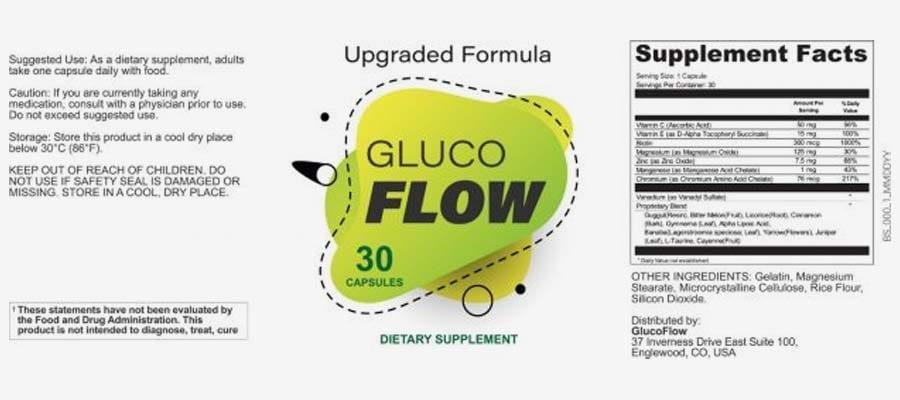 GlucoFlow Supplement Facts