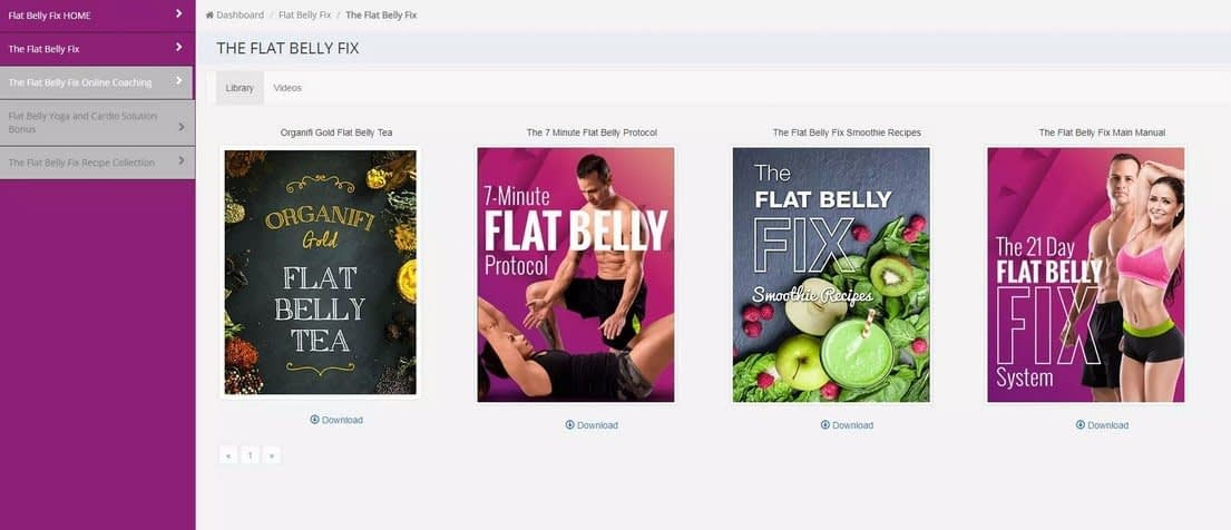 Inside The 21 Day Flat Belly Fix Member Area